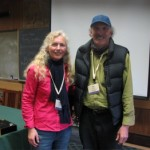 Here I am with Kate Frey at the edible landscape workshop