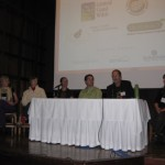The speakers panel at the Ecological Landscaping Now! conference.