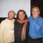 Ken with Eric Winders and Larry Santoyo. Larry spoke at the Ecological Farming Conference about Permaculture.