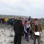 Lisa Mc Andrews leading native plant walk on the Asilomar grounds.