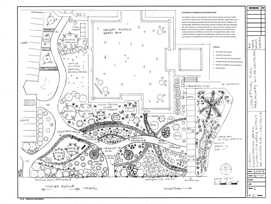 Permaculture design demonstration garden